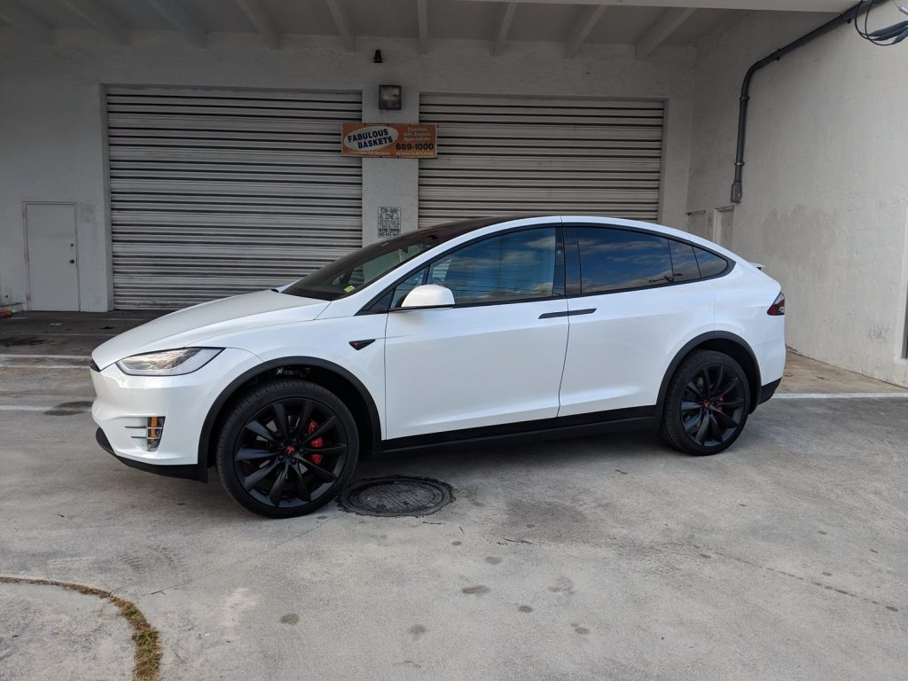 Miami Tesla model x paint corrections