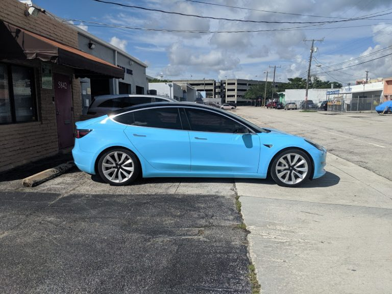 Miami Tesla Window Tint