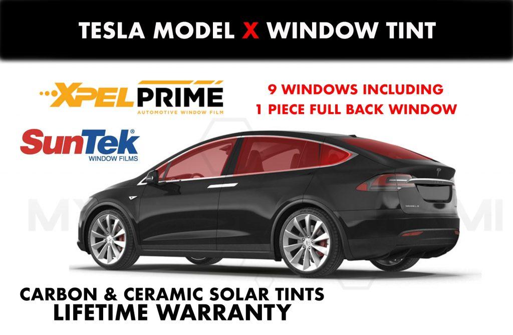 tesl model x windows tint miami chrome delete wrap my tesla