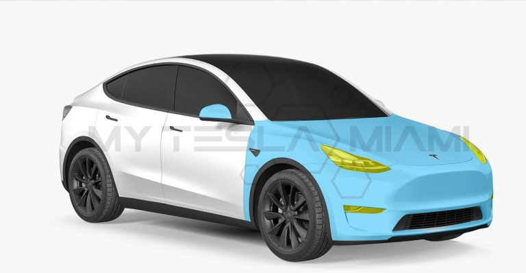 tesla model y paint protection film full front package