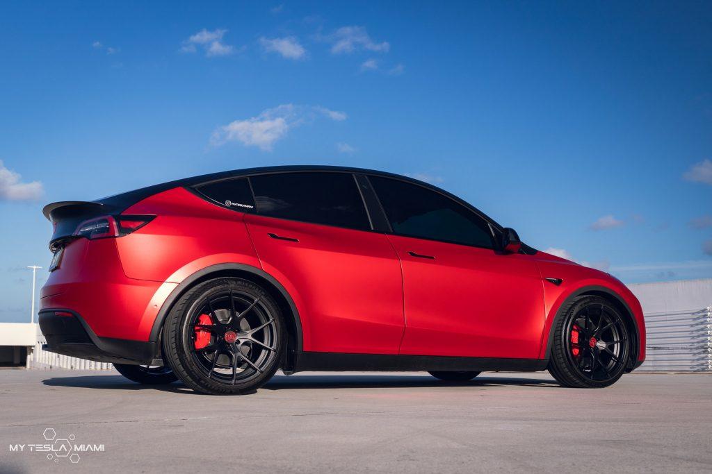 Tesla Model Y car wrap Miami