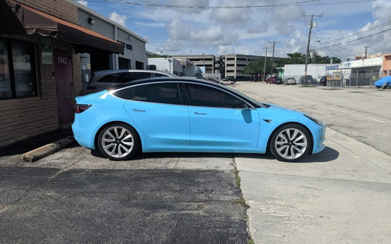 my tesla model 3 covering miami windows tinting